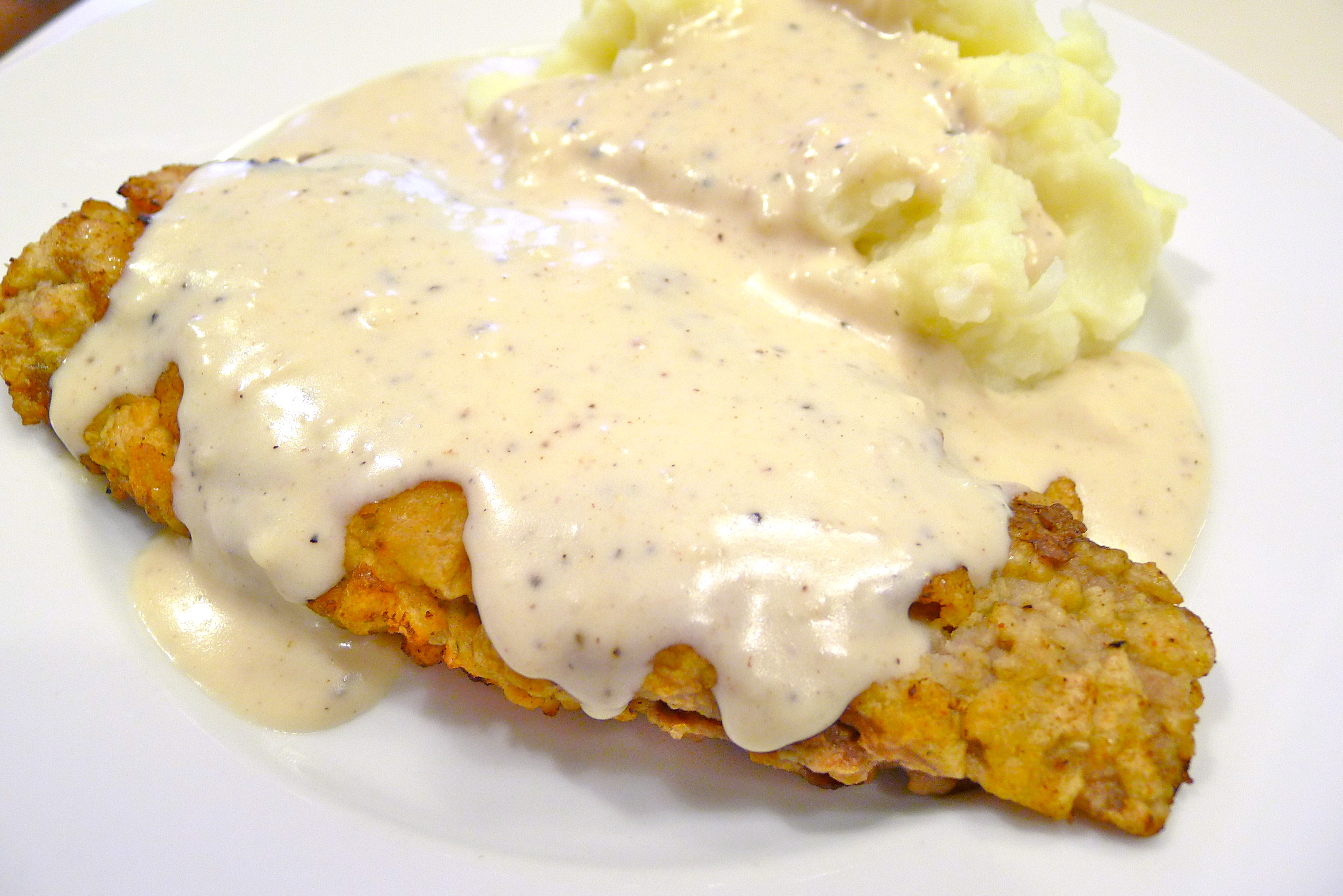 recipe: chicken and gravy over mashed potatoes [11]