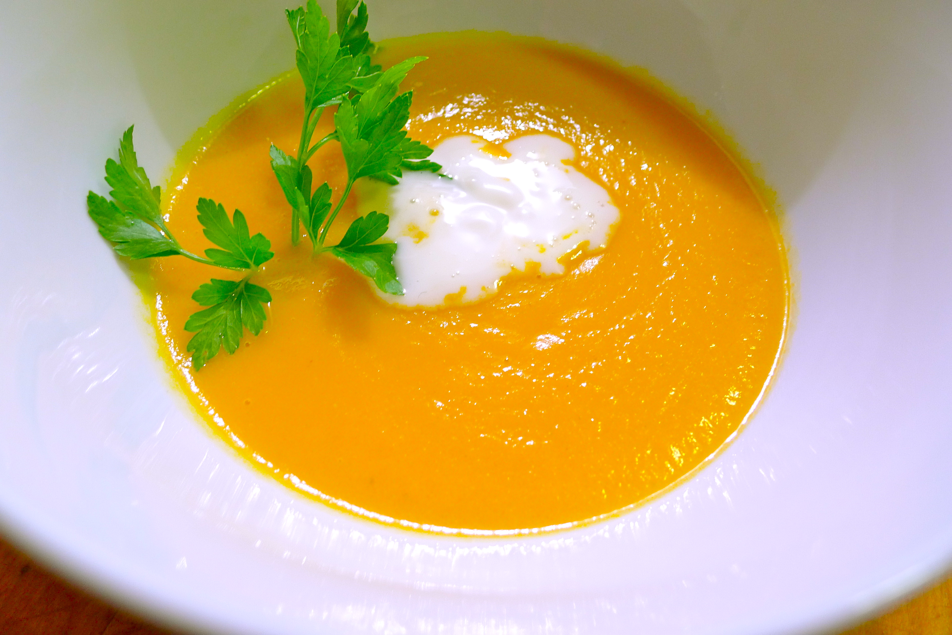 Cream of Carrot Soup with Cumin and Honey | coolcookstyle