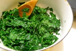 Sauté the kale in butter.