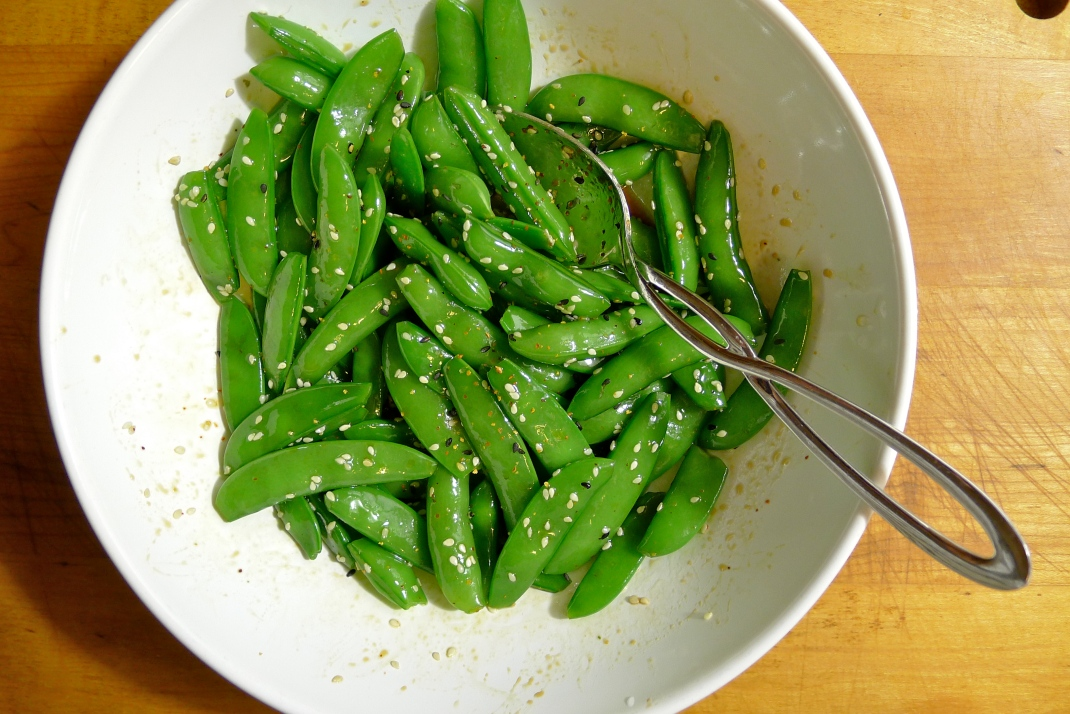 Sugar Snap Peas with Sesame, Soy Sauce and Mirin ...