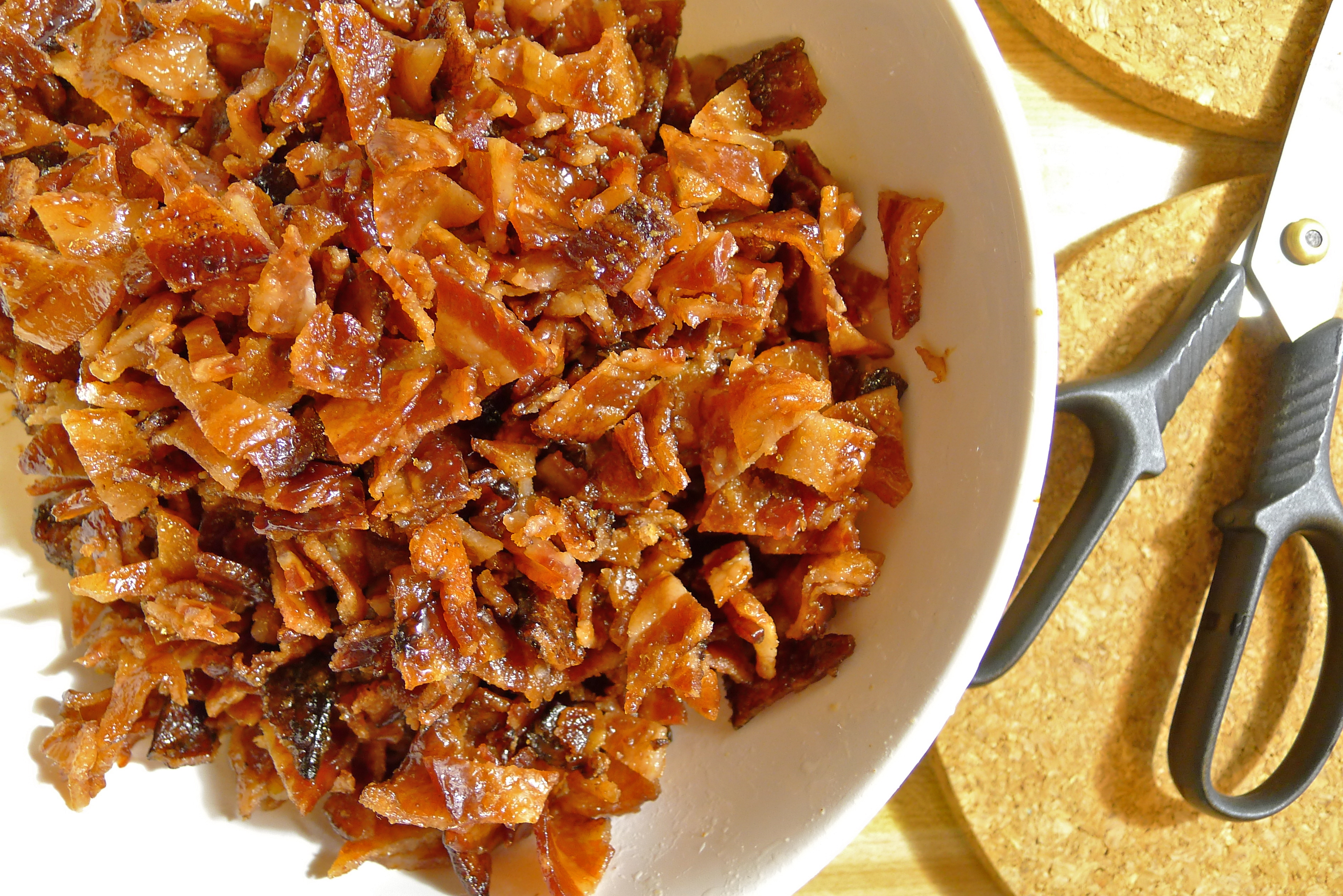 Maple, Bourbon And Bacon Spiced Walnuts Recipe — Dishmaps