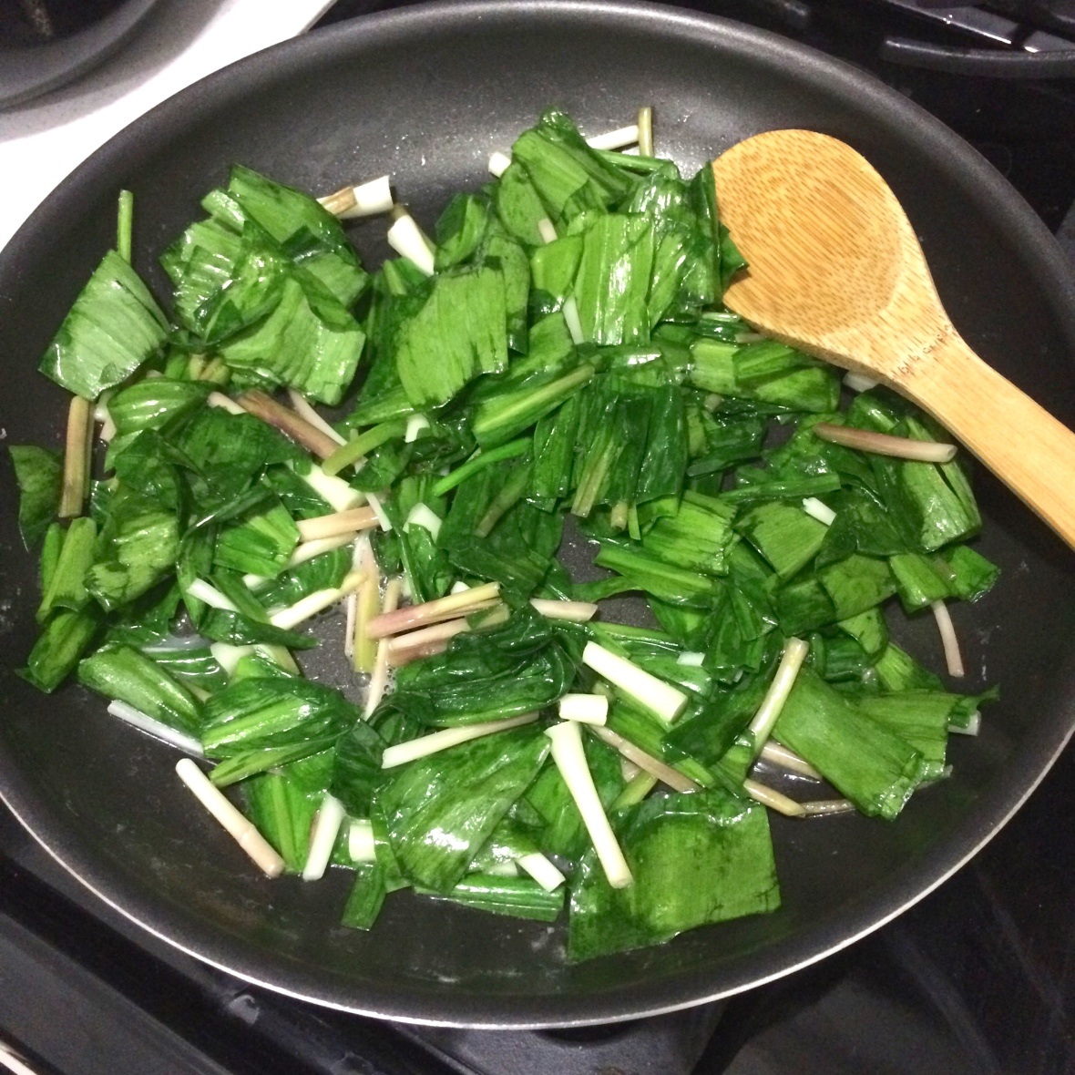 Sauté the chopped ramps in good butter.