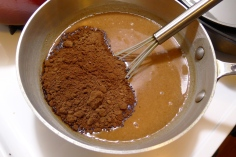 Add the cocoa powder.