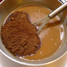 Add the cocoa powder.